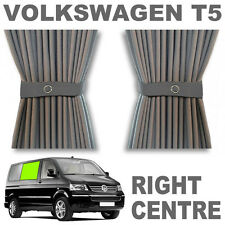 VW T5 Curtain Kit - GREY - Right Centre VWT5 Campervan Curtains