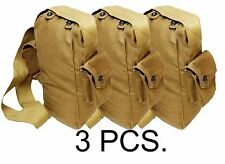 3 PCS.Vintage Soviet USSR Russian Gp-5 Gas Mask Canvas Carrier Bag Military Army