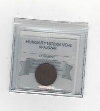 *1878Kb* Hungary, Krajczar, Coin Mart Graded*Vg-8*