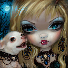 Fairy Faces 235 Jasmine Becket-Griffith art vampire chihuahua SIGNED 6x6 PRINT