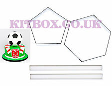 """Football Sugarcraft Cutters For 8"""" Ball Cake Inc Instructions for Football Cakes"""