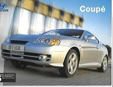 HYUNDAI COUPE 1.6S, 2.0SE AND 2.7 V6 3-DOOR MODELS CAR BROCHURE FEBRUARY 2003