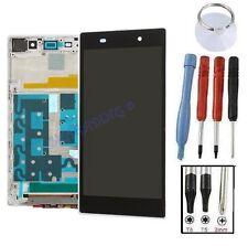 ECRAN LCD + VITRE TACTILE SUR CHASSIS COMPLET POUR SONY XPERIA Z1 L39H BLANC