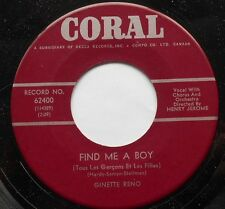 GINETTE RENO (17 ans) Find me a boy (FRANCOISE HARDY) CANADA 1964 45 LISTEN!