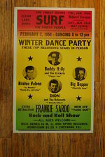 Buddy Holley Tour Poster 1959 Ritchie Valens Big Bopper Dion Clear Lakes Iowa