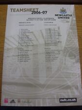 15/07/2006 Color teamsheet: Newcastle United v Lillestrøm Copa Intertoto []. Trus
