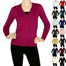 IRON PUPPY Women V-Neck Button L/Slv Silk Cardigan Top Soft Sweater Knit (S~3XL)