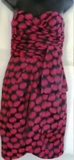 JESSICA SIMPSON STRAPLESS PINK/BLACK TUBE DRESS SIZE, 4, 12