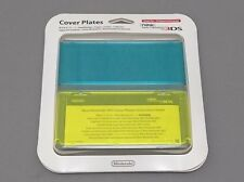 NEW 3DS Official Faceplate Clear Blue x Yellow no.021 Cover Plates Japan Import