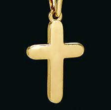 ECHT GOLD *** Kreuz Anhänger glänzend, 22 mm