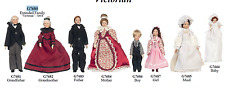 miniature doll grandparents mom, dad, sister, brother, baby and maid poseable