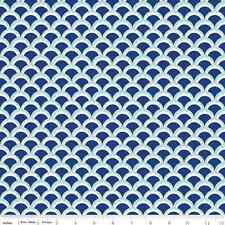 1 yard Lula Magnolia by The Quilted Fish from Riley Blake C3776 Blue Fabric