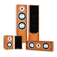 265W RMS HOME CINEMA FLOOR STANDING SPEAKER SYSTEM 5.0 SURROUND SOUND - WALNUT