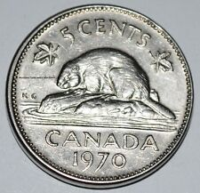 Canada 1970 5 Cents Elizabeth II Canadian Nickel Five Cent