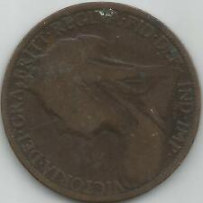 UK One Penny 1900 Victoria Old Veiled Head good definition