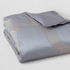 Hudson Park Concerto FULL/QUEEN Duvet Cover Jacquard Bedding Retail $355 B496