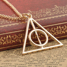 3 Colors deathly hallows metal Necklace pendant  Film Movie Harry potter Gifts