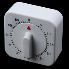 Count White Food Alarm Cook Round Mechanical Timer Kitchen Square 60 Minutes