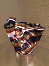 Nice Colorful MCM Murano Italian Swirl Art Glass Vase