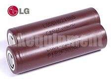 LG HG2 3000mAh INR18650 LiMn IMR 3.7v Flat Top 18650 Battery x2