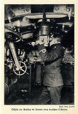 Seekrieg 1914 * Offizier am Periskop eines deutschen U-Bootes *  WW1