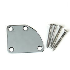 Universal Guitar Neck Plate For Strat tele jaguar Deluxe Style ,Chrome