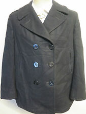 Vintage Ladies 1998 US NAVY PEA COAT Naval Clothing Melton Wool UK 16  Euro 44
