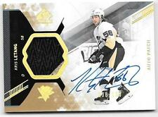 2013-14 SP Authentic Kris Letang Auto Patch Jersey Patch 2 Colors 36/100 RARE