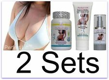 2 Perfect Lift Breast Enlargement PIlls Cream Serum Nano Actives C D Enhancement