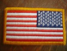 Sew-On Reversed US Flag Patch