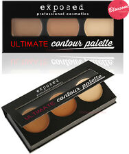 Exposed Ultimate CONTOUR KIT PALETTE Bronzer Highlighter Beauty Contouring UK