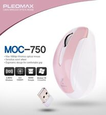Genuine Pleomax Wireless Mouse MOC-750 1000dpi Nano Dongle For PC Laptop Pink