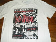 LUCKY JEANS T-SHIRT GUNS N ROSES MADE IN USA X-LARGE XL NWT COOL NEWSPAPER ADS!!