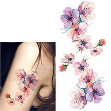 Women Waterproof Temporary Fake Tattoo Sticker Watercolor Orchid Arm DIY Decals