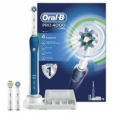 Braun Oral-B PRO 4000 CrossAction 3D 4-Mode Rechargeable Electric Toothbrush NEW