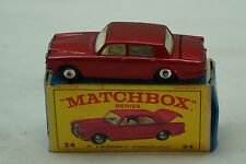 VINTAGE MATCHBOX CAR SUPERFAST 24 ROLLS ROYCE SILVER SHADOW BOX TOY LESNEY RED
