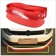 RED Car Front Bumper Spoiler Lip Kit Splitter Valance Chin Protector Body Kit