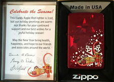 "ZIPPO Lighter 2010 Candy Apple Red ""CELEBRATE THE SEASON"" Christmas Edition NEW!"