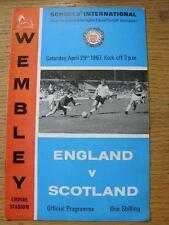 29/04/1967 England Schools v Scotland Schools [At Wembley] . Item In very good c