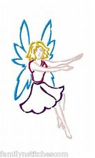 Outline Fairies 10 Machine Embroidery Designs on multi-formatted CD Colorline