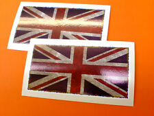 UNION JACK FLAG Dirty Weathered Look Car Bike Helmet Stcker Decal 2 off 95mm