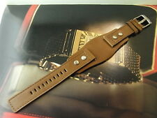 GENUINE NOS RARE FOSSIL JR-9651 PILOTS STYLE 20MM LEATHER MENS WATCH STRAP