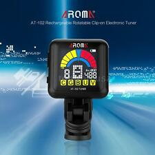 AROMA AT-102 Rechargeable Clip-on Tuner for Guitar/ Bass/ Ukulele/ Violin R0G9