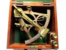 Burge & son londres sextant en la caja de caoba para artículo de colección 1900