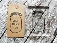 Personalised Stamp 'Mason Jar' Crafts, Business, Weddings, Gifts