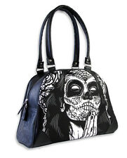 TATTOO PRAYING GYPSY SUGAR SKULL ROSE BOWLING BAG HANDBAG LIQUOR BRAND PUNK GOTH
