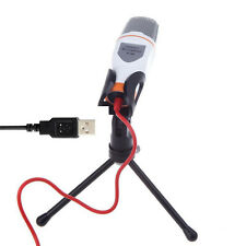 White USB Professional Condenser Microphone Mic Studio Sound for PC windows 7/8