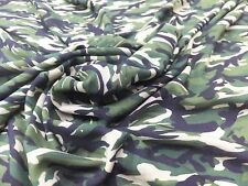 Camouflage print 100% soft viscose green cream brown black