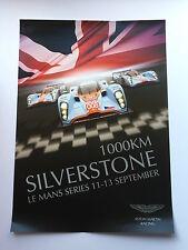 100KM Silverstone Aston Martin Unsigned Le Mans Poster.