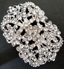 Bridal Clear White Rhinestone Brooch Pin B297